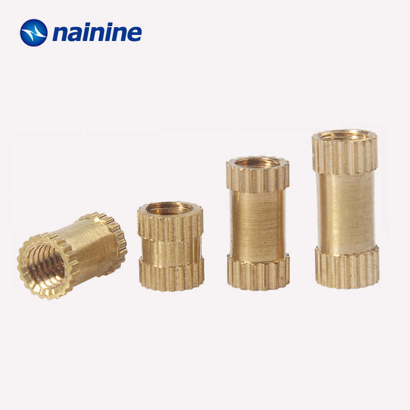 50/100Pcs M2 M2.5 M3 M4 M5 Injection Molding Nut Brass Insert Knurled Nuts Knurling Embedded Parts HW038