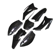 Carénages en plastique ABS, pièces de carrosserie pour YAMAHA TTR110 TTR110E 110cc, moto tout terrain, noir