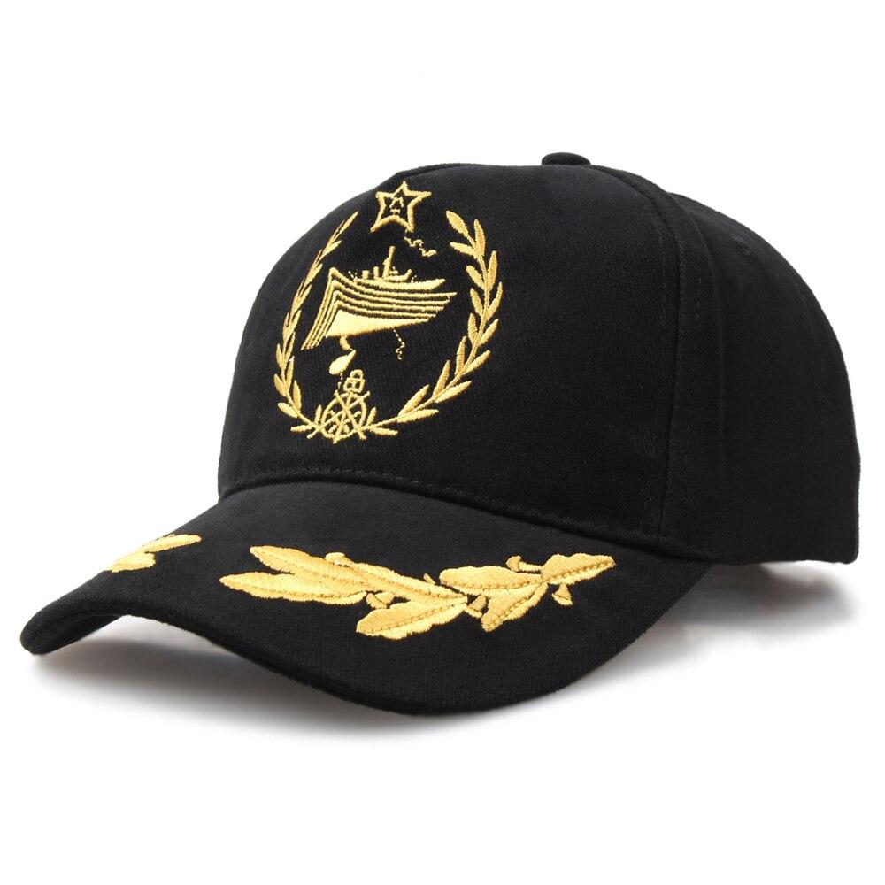 Men Sunhat Navy Ship Sailor Hat Milirary Commando Hats Army General Black Embroidered Baseball Caps Women Sun Protection Cap