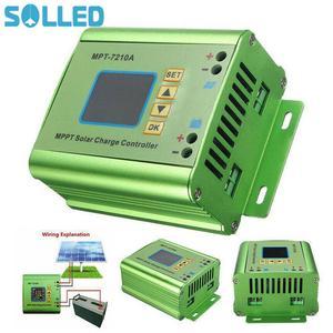 MPT-7210A LCD MPPT Solar Panel Charge Controller Aluminum Alloy for Lithium Battery 24V / 36V / 48V / 60V / 72V Battery Pack(China)