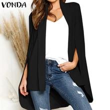 VONDA 2020 Autumn Winter Fashion Jackets Women Female Office Wear Outerwear Coat