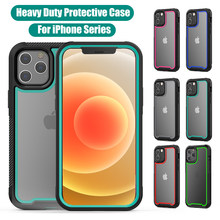 Caso transparente resistente para o iphone 11 11 pro max iphone 12 mini 12 pro max 6s 7 8 plus capa completa do iphone x xs max xr