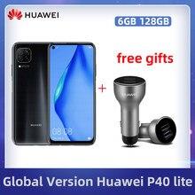 HUAWEI P40 Lite Globale Version 6GB 128GB 6,4 zoll FullView Display 2310*1080 Kirin810 Octa Core EMUI 10 schnelle Ladung