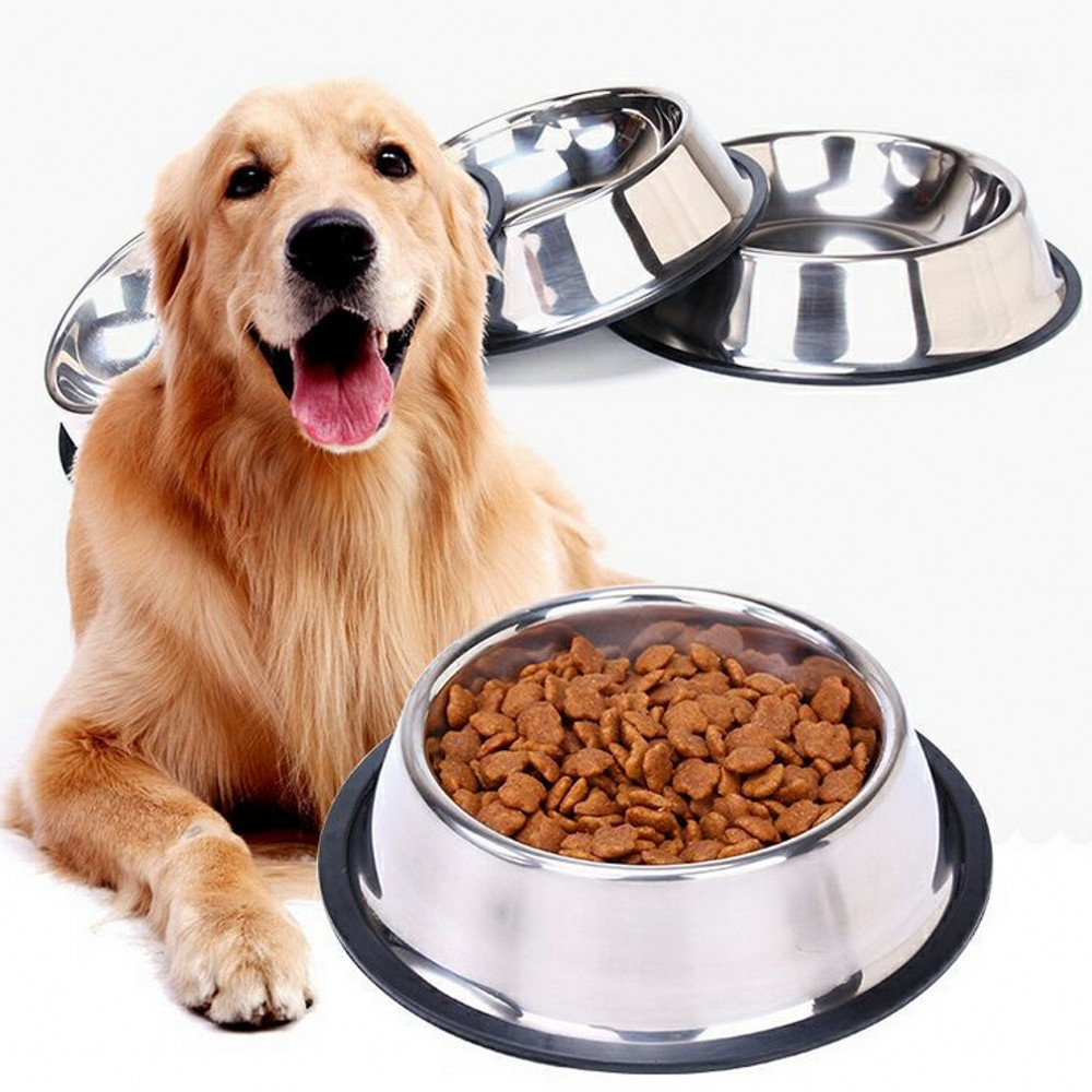 2019 New Dog Cat Bowls Stainless Steel Travel Footprint Feeding Feeder Water Bowl For Pet Dog Cats Puppy Home Outdoor Food Dish