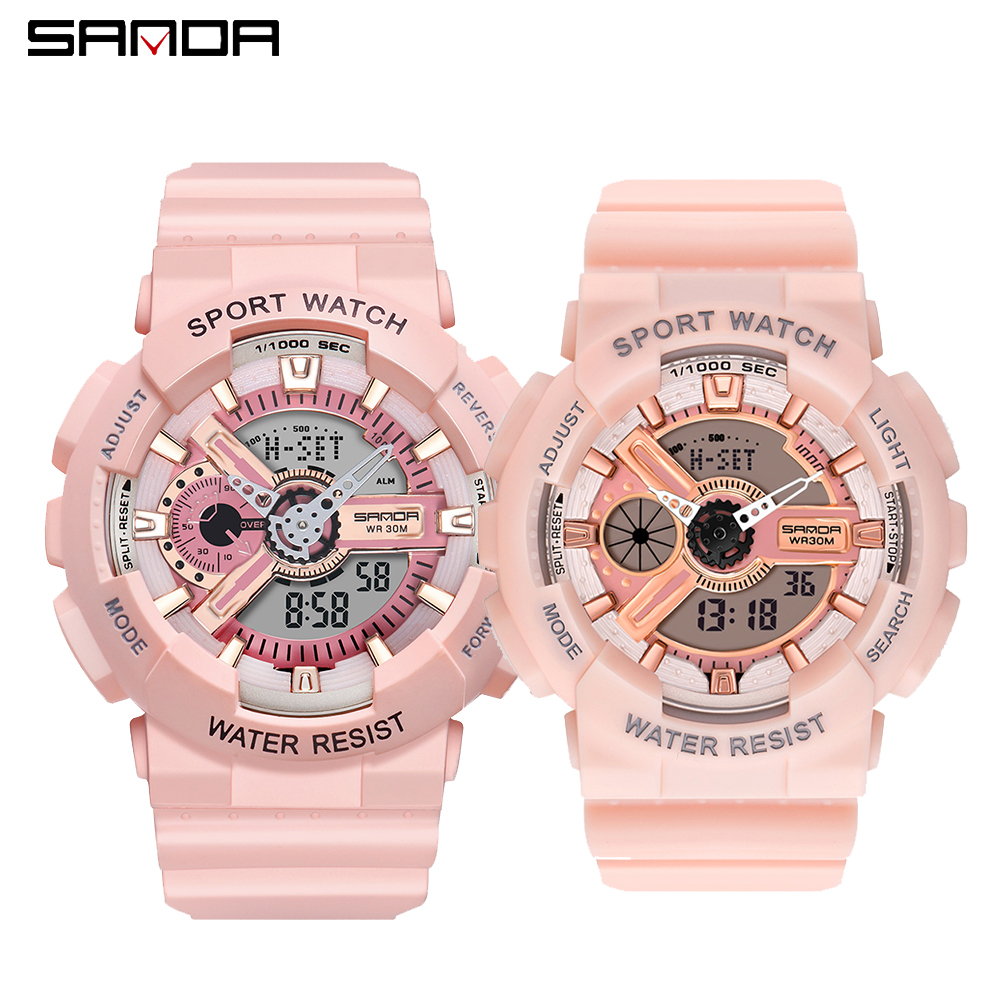 2020 SANDA Military Men's Watch Top Brand Luxury Waterproof Sport Wristwatch Fashion Quartz Clock Couple Watch Relogio Masculino