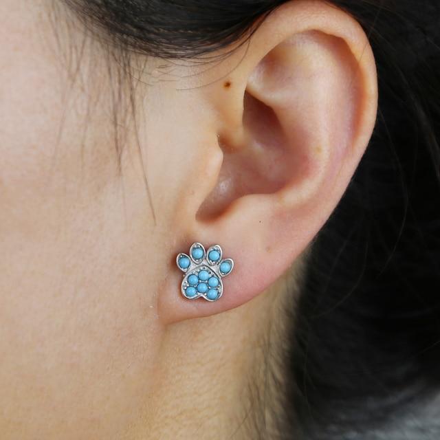 Dog Paw Earring 4