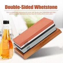 Grit Premium Whetstone Knife Sharpener Cut Sharpening Stone Set Ideal Sharpener for All Blades Non Slip Base Cutter Sharpener