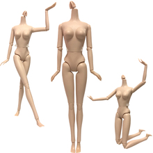 NK One Pcs Female Doll Body 12 Joint Removable Nude Doll About 30cm 11.8 inch Accessories Doll Toy D