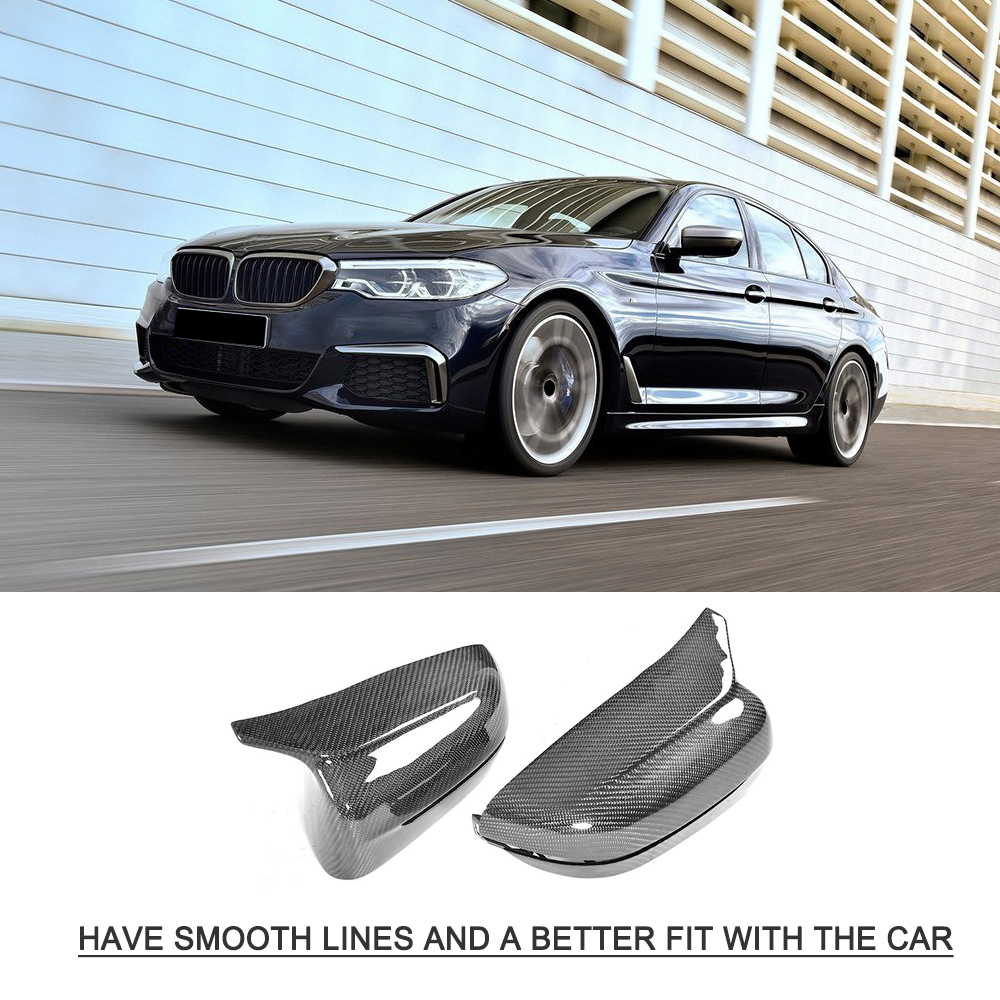 G30 G38 Side Mirror Cover Side Wing Caps For BMW G31 G11 G12 Gloss Black