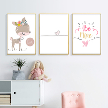 Baby Room Posters Nursery Wall Art Canvas Painting Nordic and Prints Girl Pictures for Bedroom Unframed