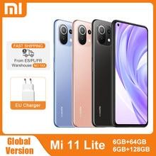 Xiaomi – Smartphone Mi 11 Lite, Version globale, NFC, 64 go/128 go, Snapdragon 732G Octa Core, caméra arrière 64mp, 4520mAh, téléphone portable