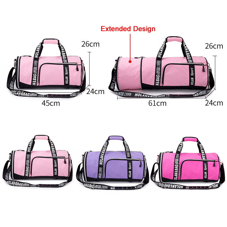 Yoga Mat Bag For Women 2019 Pink Gym Sports bag Fitness/Gym Shoe Compartment Small