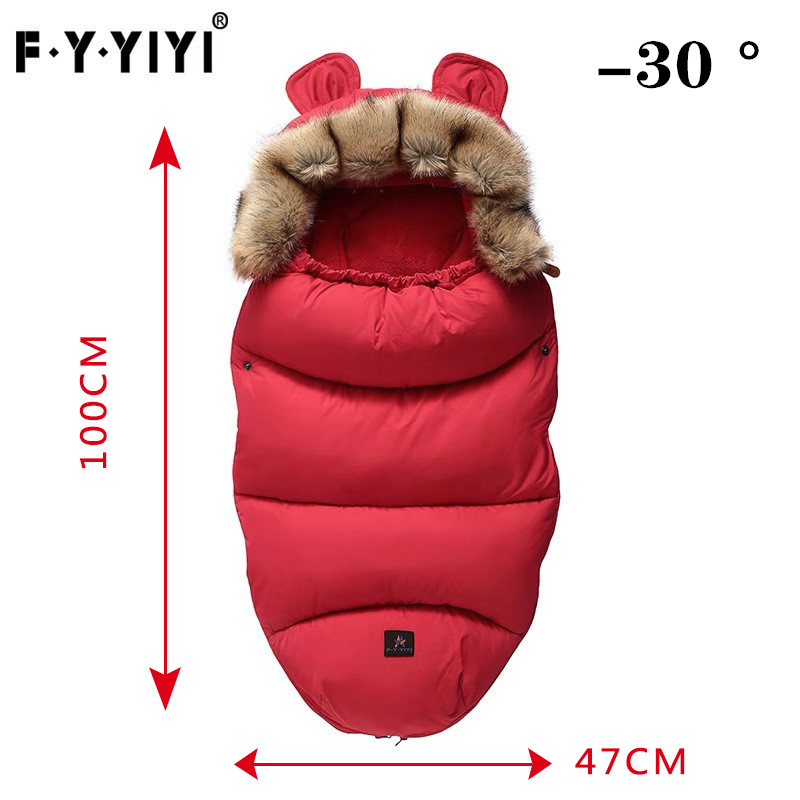 0-24 Months Baby Sleeping Bag Stroller Sleeping Bag Spring Winter Warm Sleepsacks Robe Infant Thick Warm Envelopes + Gift