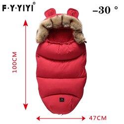 0-24 Months Baby Sleeping Bag Stroller Sleeping Bag Spring Winter Warm Sleepsacks Robe Infant Thick Warm Envelopes + Gift