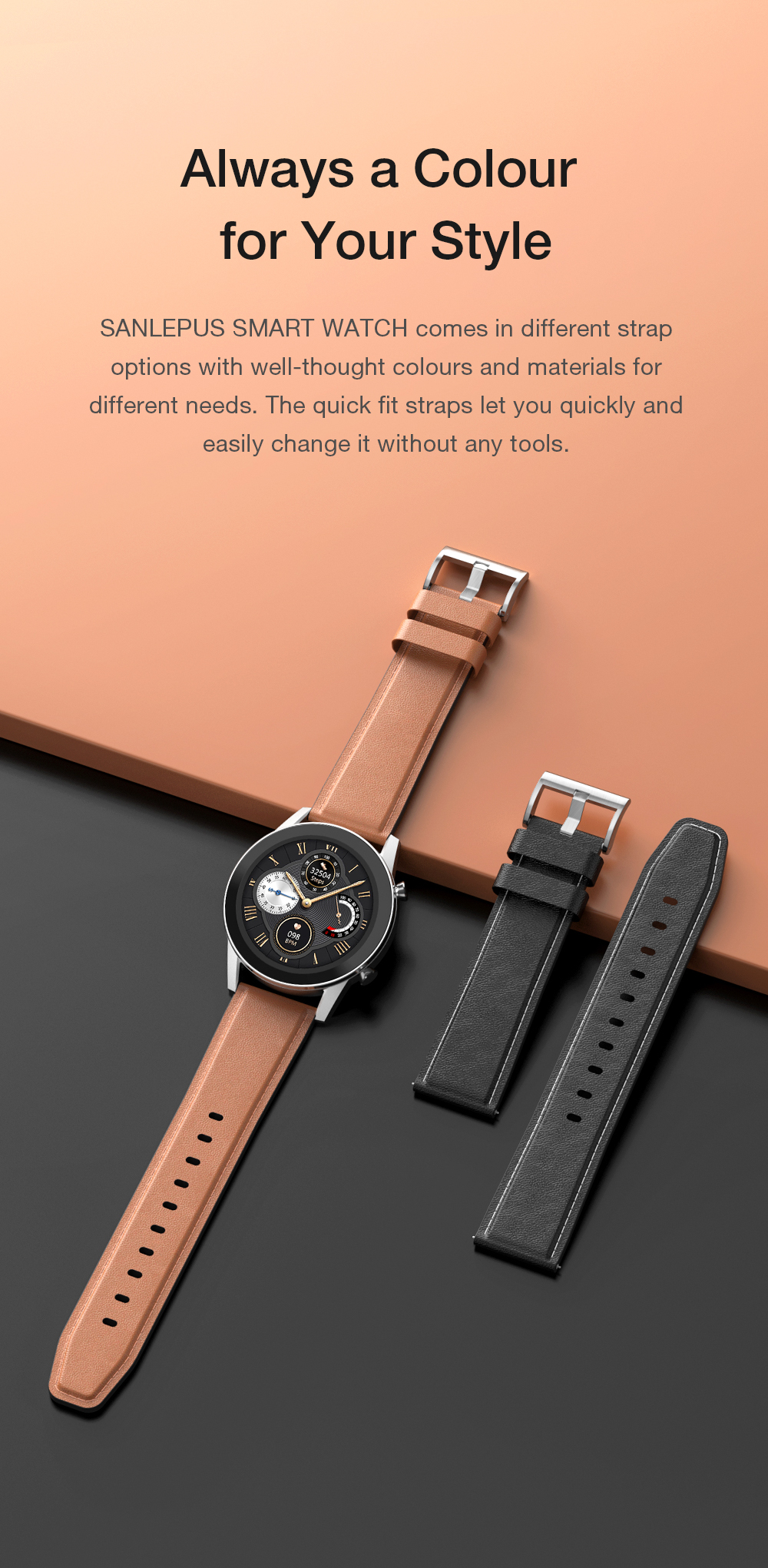 Hff9b073f6ad54b929ce4460f15eae5a60 2021 SANLEPUS ECG Smart Watch Dial Call Smartwatch Men Sport Fitness Bracelet Clock Watches For Android Apple Xiaomi