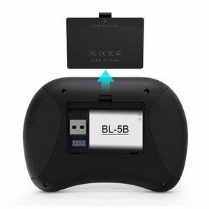 Image 2 - Rii X8 + 2.4ghzのミニワイヤレスキーボードとタッチパッド音声検索ledバックライト充電式リチウムイオン電池用ボックスpc