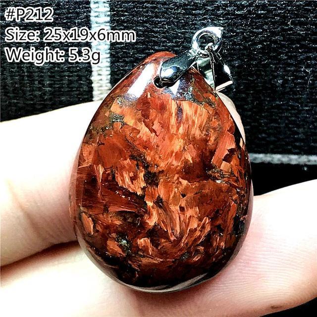 ธรรมชาติสีแดงPietersiteจี้สำหรับหญิงชายนามิเบียหินลูกปัดหยดสร้อยคอจี้เงินเครื่องประดับAAAAA