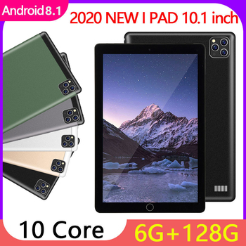 цена на 2020 New Tablet Ten Core 6 + 128GB WiFi Tablet PC Android 8.1 HD IPS Screen Dual SIM Card Call Tablet PC Dual Camera 4G Network