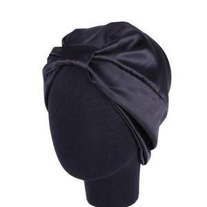 Image 5 - Muslim Women Night Sleep Cap Head Wrap Turban Satin Chemo Cap Hair Loss Bonnet Beanie Elastic Headwear Skullies Islamic Fashion
