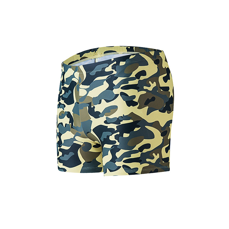 19 MEN'S Swimming Trunks Boxer Hot Springs-Style Bathing Suit Military Training Camouflage Swimming Trunks Large Size Printed Sp