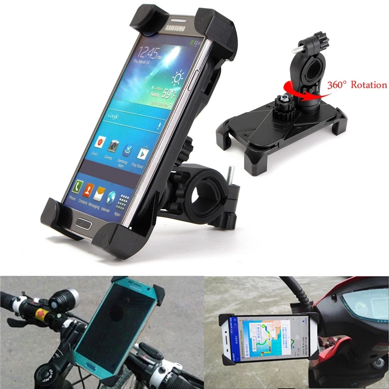 Bicycle Mobile Cell Phone Stand Holder Cycling Mountain Bike Handlebar Phone Stand Mount 360 Rotatable Anti-shake Bracket Holder