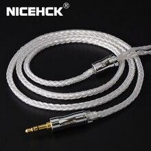 NICEHCK C16 1 16 noyaux câble plaqué argent 3.5/2.5/4.4mm prise MMCX/2Pin/QDC/NX7 PinFor KZCCA ZSX C12 TFZ V90 BL 03 NX7 Pro/DB3