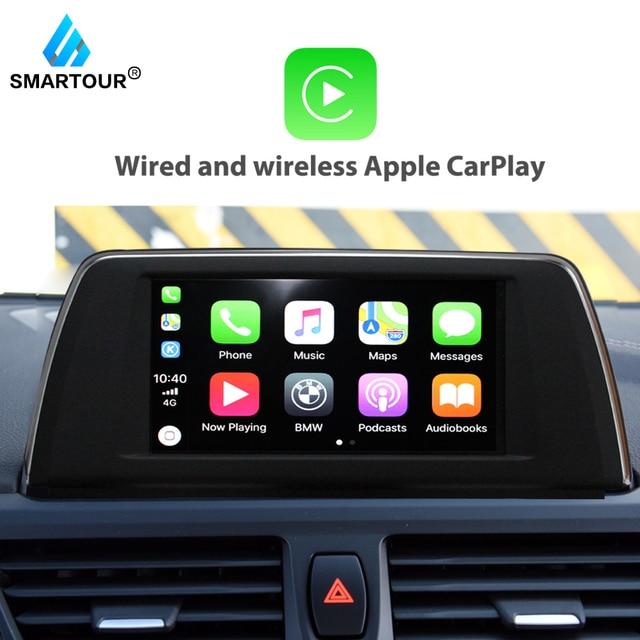 Smartour bezprzewodowy Apple CarPlay Android Auto dla BMW F10 NBT F20 F30 X1 X3 X4 X5 X6 F25 MINI serii powietrza grać kamery cofania