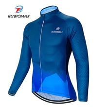 цена на 2020 KUWOMAX Men's Cycling Clothing Mtb Bike Bicycle Outdoor Sports Jerseys Shirt Cycle Wear long sleeve summer cycling jersey.