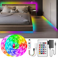 Светодиодная ленсветильник s WS2811 Dream color SMD LED светильник RGB индивидуально Адресуемая умная гибкая лента RGB Диодная лента DC 12 В