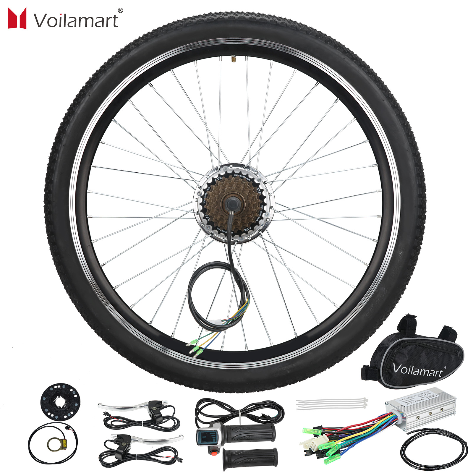 Voilamart 36V 250W Hinterrad Elektrische Fahrrad Motor Conversion Kit E Bike Radfahren Hub 26