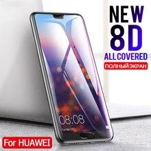 8D フルカバー強化ガラス Huawei 社 P20 Lite P20 Pro のスクリーンプロテクター Huawei 社 P20 Lite ノヴァ 3E 保護ガラスフィルム