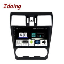 "Idoing 9 ""רכב Android10 רדיו מולטימדיה נגן לסובארו WRX 2016 2019 PX5 4G + 64G אוקטה Core GPS ניווט 2.5D IPS TDA 7850"