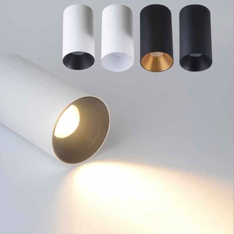 Потолочное светодиодное освещение монтажной поверхности потолочная лампа 12 Вт цилиндр для фойе/балкона/коридора/спальни/ресторанов
