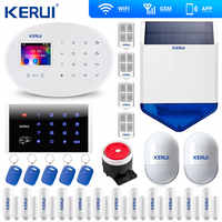 KERUI W20 WIFI GSM Home Alarm System Alarm Sicherheit kit Drahtlose Tastatur Rfid Fernbedienung Solar Sirene Keyb