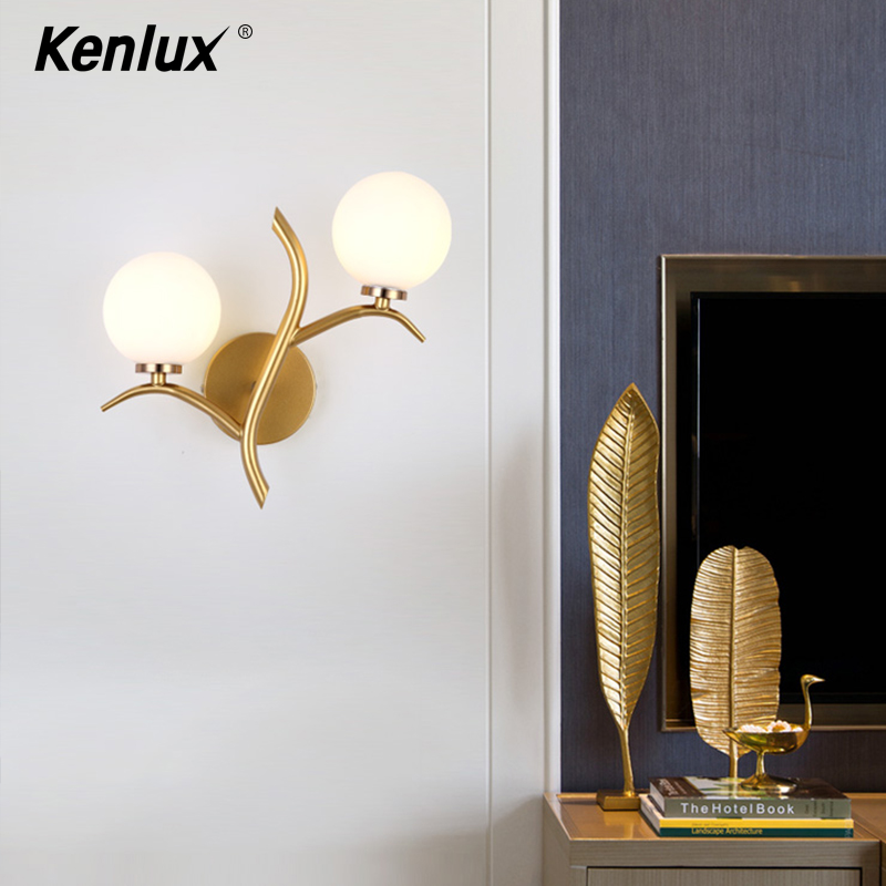 Decorative <font><b>Nordic</b></font> Sconce <font><b>Wall</b></font> Lights with Glass Shade Creative Home Indoor Bedside Led <font><b>Wall</b></font> <font><b>Lamp</b></font> <font><b>Wood</b></font> Night Lights Fixtures G4 image