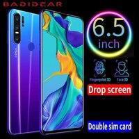 Teléfono Inteligente barato Android 4G P30pro teléfonos móviles versión europea asiática 6 5 pulgadas Dual Sim desbloqueado Pantalla de gota de agua