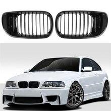 Black Front Kidney Grilles For BMW E46 and E81 E87 4 door 4D 3 Series 2002-2005 Saloon Touring 2002-2005 2008-2011 for hyundai getz 2002 2011 3d floor mats into saloon 4 pcs set element nlc3d2008210k