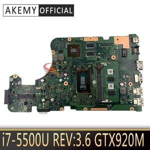 For ASUS W519L X555LP X555LJ X555LDB X555LB X555LN X555LF X555LD X555L laptop motherboard MB REV:3.6 I7-5500U 4GB RAM GTX920M/2G