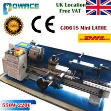 [Ab gemi] 0618 Mini Metal torna makinesi 550W naylon dişli 100mm üç çeneli ayna Miliing