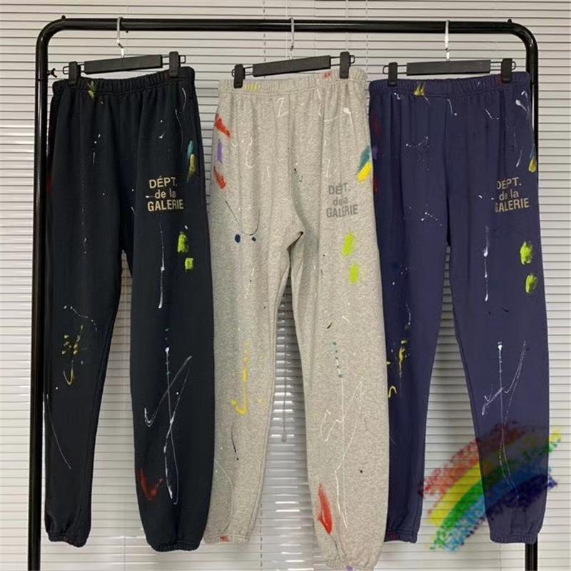 2020FW Manual Splash ink Gallery Dept Sweatpants Joggers Drawstring Streetwear Graffiti Gallery Dept Vintage Pants trousers