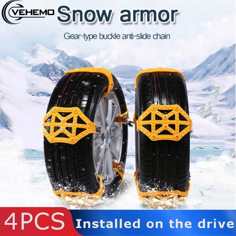 Vehemo TPU pour ceinture antidérapante chaînes antidérapantes chaîne à neige chaîne antidérapante glace roue pneu voiture résistant hiver