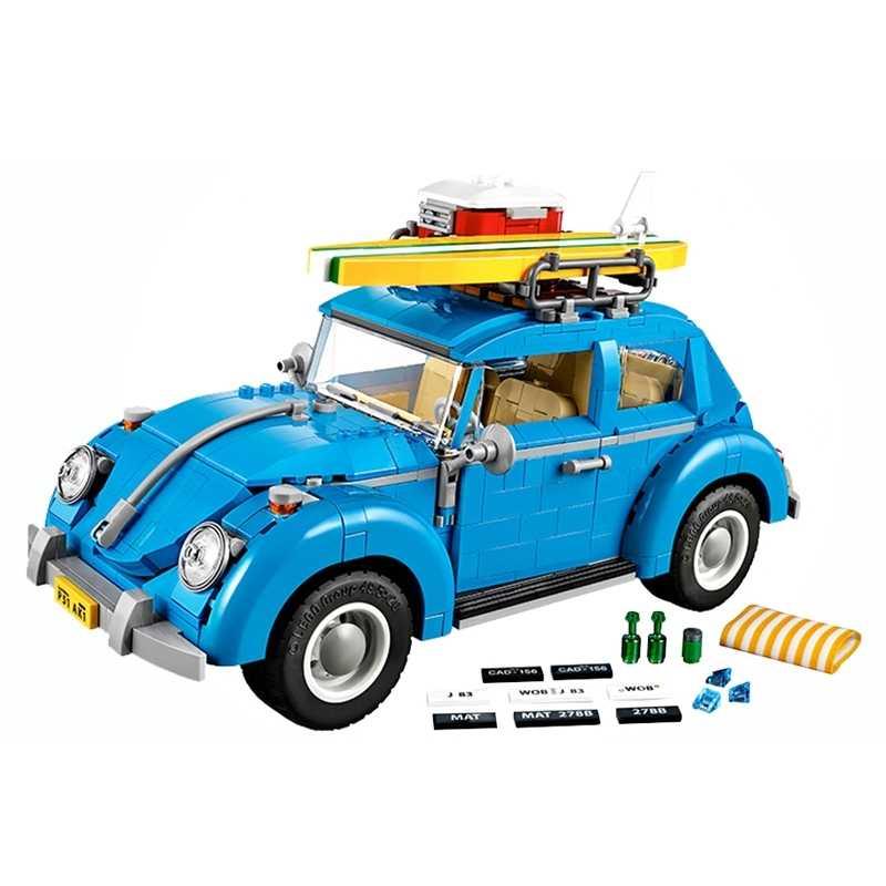 قفل تكنيك سيارات مجموعة T1 سيارة مخيمات و ميني كوبر سيارة فاخرة و سيارة خاصة كتل أطفال بنات لعب للبنين الأطفال قفل