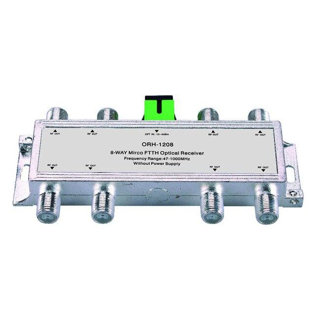 Mini Catv Ftth Optische Ontvanger ORH-1208 47-1000 Mhz, 8 Manier Passieve Ftth Negatieve Optische Ontvanger