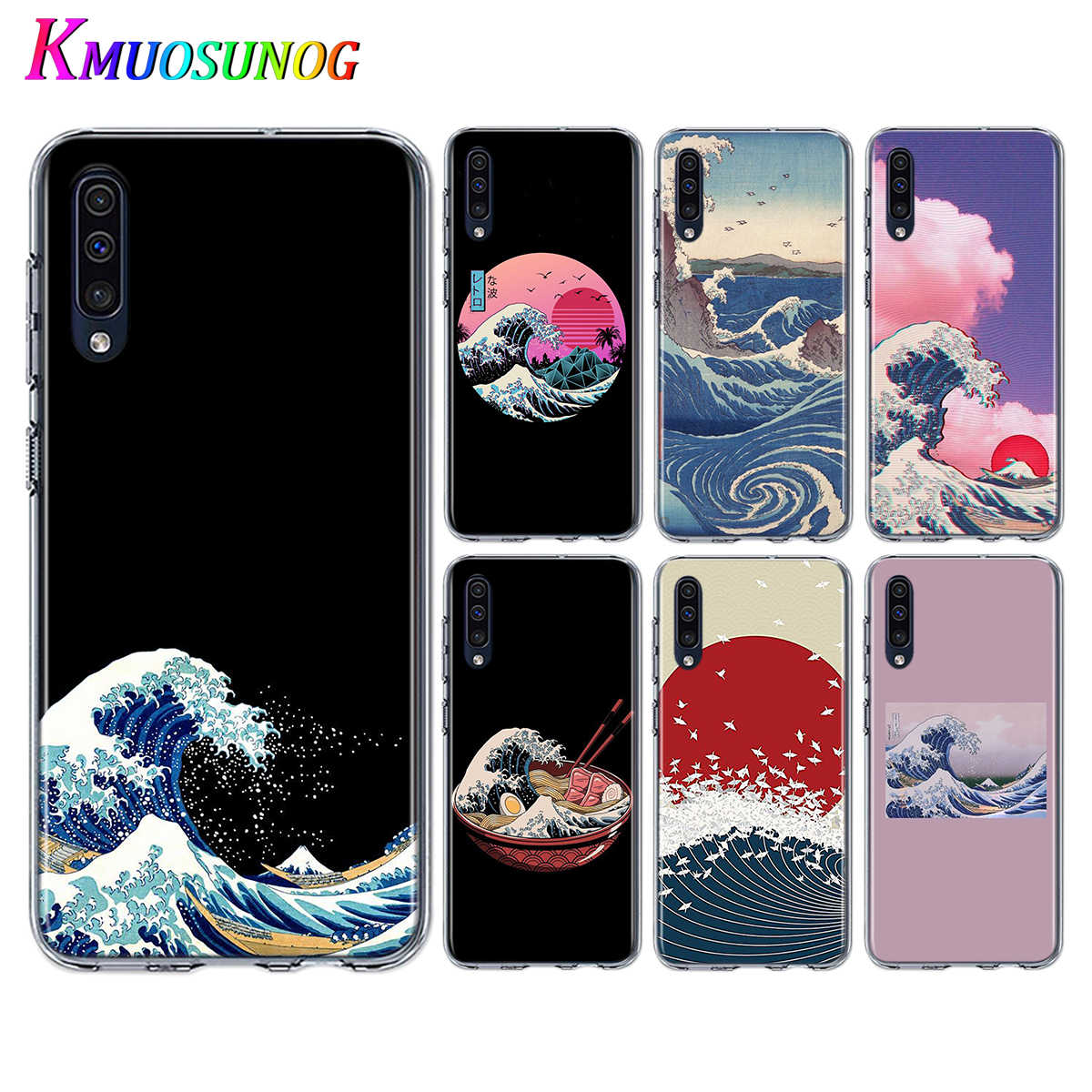 Soft TPU Phone Cover The Great Wave off Kanagawa for Samsung Galaxy A90 A80 A70S A70 A60 A50S A40 A20E A20 A10S Phone Case