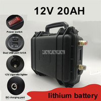 12V 20AH Lithium Battery Portable Outdoor Battery Dual USB Port For Night Market Night Fishing Camping Standby Power Supply