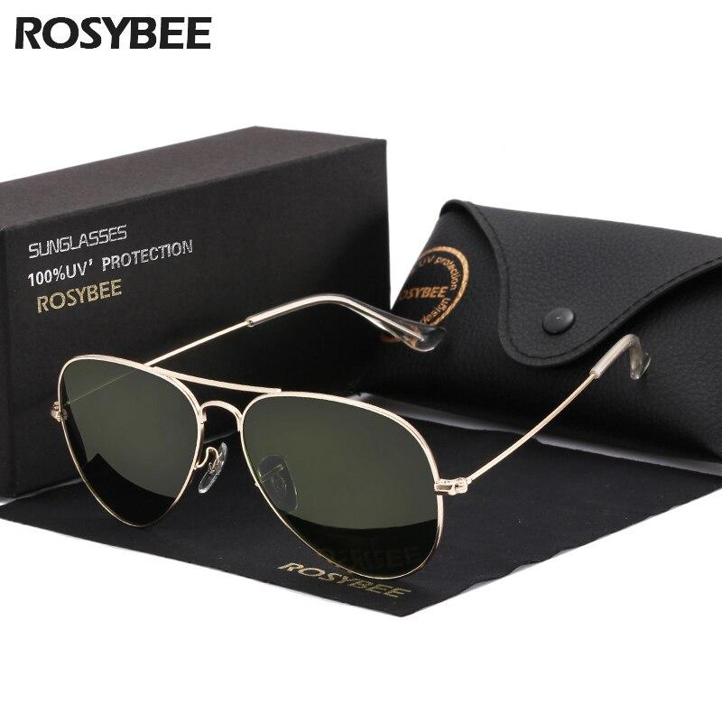 High Quality G15 Glass Lens Women Men Sunglasses Uv400 Aviation Brand Classic Mirror Male Oculos Vintage Banned Man Sun Glasses