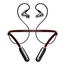 כפול דינמי נהג אלחוטי אוזניות ספורט באוזן אוזניות גדול נפח עמיד למים Bluetooth אוזניות תמיכת TF כרטיס עם מיקרופון