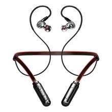 Dual Driver Dinamico Auricolare Senza Fili In Ear Cuffia di Sport Grande Volume Impermeabile Auricolare Bluetooth di Sostegno Della Carta di TF Con Il Mic