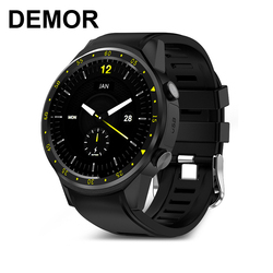 DEMOR KF01 GPS Smart Watch Connected with Compass Heart Rate Monitor Pedometer Sports Men Wrist Smartwatch for iOS Android Phone