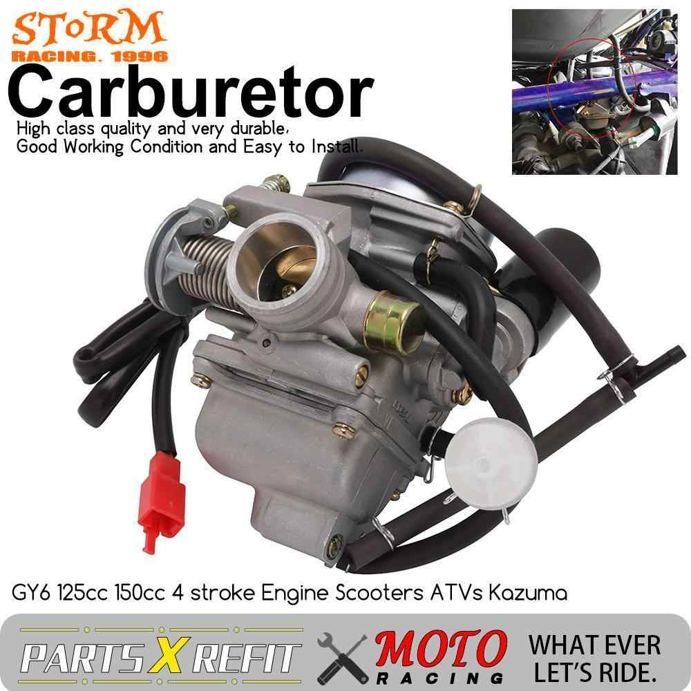 Evrensel Carburador 24mm 4T Yamaha GY6 110cc 125cc 150cc Scooter Moped PD24J CVK karbüratör CARB ATV QUADS GO-KART BUGGY